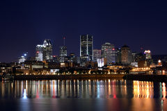 Montreal by night Stock Image