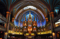 Montreal Notre-Dame Basilica Royalty Free Stock Images