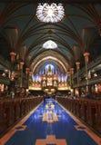 Montreal Notre Dame Basilica Stockbilder