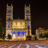 Montreal Notre Dame Basilica Stock Image