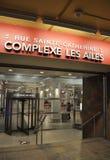Montreal, o 27 de junho: Magasin Les Ailes do subterrâneo de Montreal do centro na província de Quebeque de Canadá Imagem de Stock