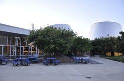 Montreal, o 27 de junho: Parque olímpico com Rio Tinto Alcan Planetarium de Montreal na província de Quebeque de Canadá foto de stock royalty free