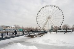 The Montreal Observation Wheel stock image