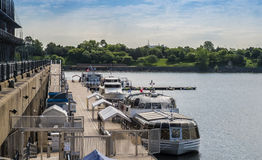 Montreal Old Port scene Royalty Free Stock Photos