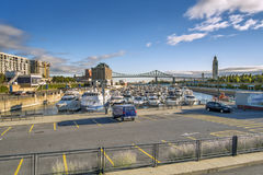 Montreal Old Port scene Royalty Free Stock Images
