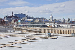 Montreal Old Port In Winter Royalty Free Stock Images