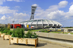 The Montreal Olympic Stadium Stock Photos