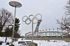 Montreal Olympic Stadium Stock Photo