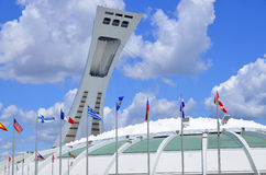 The Montreal Olympic Stadium Stock Image
