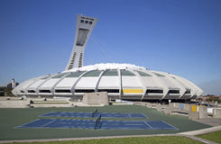 Montreal olympic stadium Stock Images