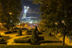 Montreal Olympic Stadium. The Olympic Stadium is a multi-purpose stadium in the Hochelaga-Maisonneuve district of Montreal, Quebec, Canada built as the main Royalty Free Stock Photos