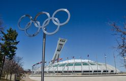 Montreal Olympic Stadium Stock Photos
