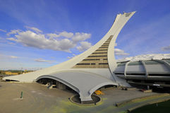 Montreal Olympic Stadium tower stock photography