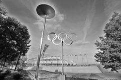Montreal Olympic Stadium tower Royalty Free Stock Photos