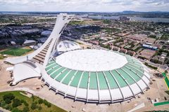 Montreal Olympic Stadium and Tower, Aerial View