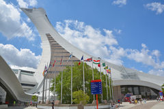 Montreal Olympic Stadium and tower Royalty Free Stock Images