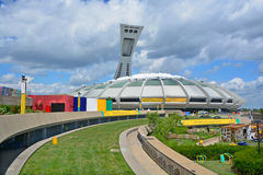 Montreal Olympic Stadium and tower Stock Images