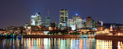 Montreal over river at dusk Stock Image
