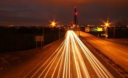 Montreal på natten Arkivbild