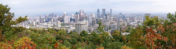 montreal panorama Obrazy Royalty Free
