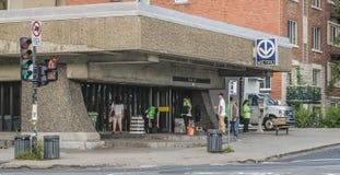 Montreal PieIX subway station (metro). Montreal PieIX subway station called the metro royalty free stock photos