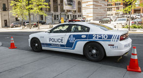 Montreal Police car Royalty Free Stock Photo