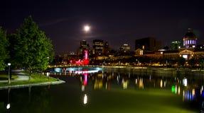Montreal por la noche 2 Imágenes de archivo libres de regalías