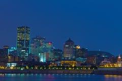 Montreal por noche Fotografía de archivo libre de regalías