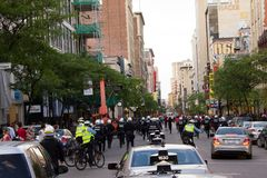 montreal protestators Zdjęcie Royalty Free