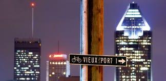 Montreal przy noc Obraz Royalty Free