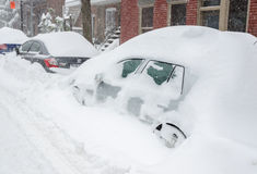 Montreal, QC, Canada - 27th December 2012. Historical Snow storm Royalty Free Stock Photography