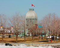 MONTREAL. QUEBEC. ARCHITECTURE. Building the pier for river steamers Royalty Free Stock Photos