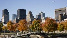 Montreal, Quebec, Canadá, horizonte Imágenes de archivo libres de regalías