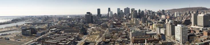 Montreal, Quebec, Canadá, horizonte panorámico Fotografía de archivo libre de regalías