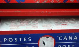 Montreal, Quebec, Canada - Jul 20, 2016: Postal box details in t stock images
