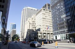 Montreal, Quebec, Canada - 18 July 2016 - Generic street in down stock photography