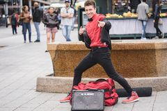 MONTREAL, QUEBEC, CANADA - MAY 20, 2018: street performers montreal in Montreal. royalty free stock image