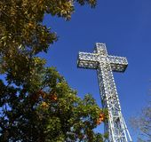 Mount Royal Cross monument royalty free stock photography