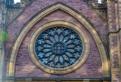 Montreal, Quebec, Canada: Saint James United Church stock images