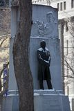 Sir Wilfrid Laurier Memorial. MONTREAL QUEBEC CANADA 01 22 2019: Sir Wilfrid Laurier Memorial by Joseph-Emile Brunet on Dorchester Square. Wilfrid Laurier was a stock photography