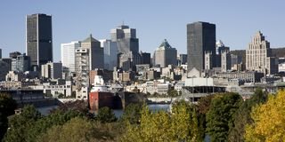 Montreal, Quebec, Canada, skyline Royalty Free Stock Photos