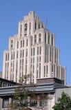 Montreal Quebec, Kanada - Juli 15, 2010: Den Aldred byggnaden i gamla Montreal fotografering för bildbyråer
