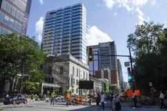 Montreal Quebec, Kanada - 18 Juli 2016 - generisk gata in ner Arkivfoto