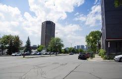 Montreal, Quebec, Kanada - 18 Juli 2016 - generisk korsning och l Royaltyfria Bilder