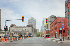 Montreal, Quebec Kanada, Maj, - 21, 2017: Bonaventure autostrada Fotografia Royalty Free