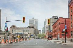 Montreal Quebec, Kanada - Maj 21, 2017: Bonaventure Expressway Royaltyfri Fotografi
