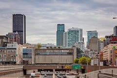 Montreal Quebec, Kanada - Maj 21, 2017: Congres de Montreal för konventcentrumPalais des Fotografering för Bildbyråer