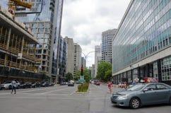 Montreal, Quebec, Kanada Rodzajowa ulica w puszku - 19 2016 Lipiec - obrazy stock