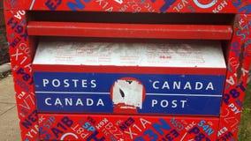Montreal, Quebeque, Canadá - 20 de julho de 2016: Detalhes postais da caixa em t Fotografia de Stock Royalty Free