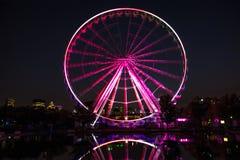 Montreal-Riesenrad nachts stockfotografie